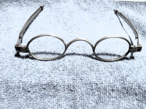 """1821  COIN SILVER EYEGLASSES  """"J. PETERS"""" (EARLY OPTICIAN)  IN GREAT CONDITION!"""