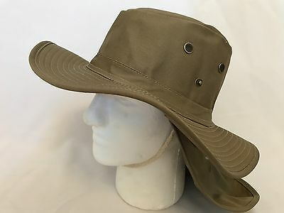 (Boonies Hat Fishing Army Military Hiking Snap Brim Neck Cover Bucket Sun Cap L)