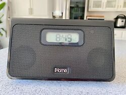 ALARM CLOCK IPOD DOCK IHOME IH24 PORTABLE IPOD ALARM CLOCK