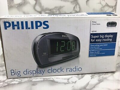 Philips AJ3540 37 Large Display Digital AM/FM Alarm Clock Radio Gray