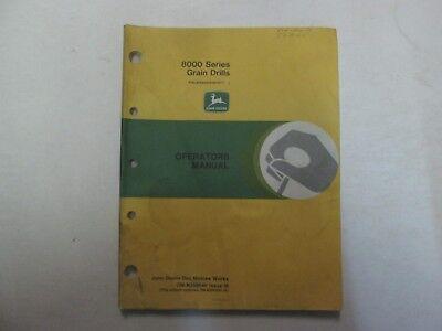 John Deere 8000 Series Grain Drills Operators Manual Factory Oem Om-n200040