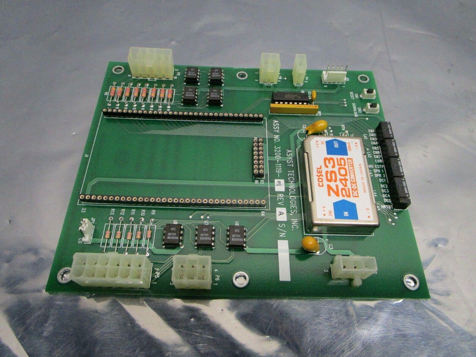 Asyst 3200-1119-01 PCB, FAB 3000-1119-01, 101213