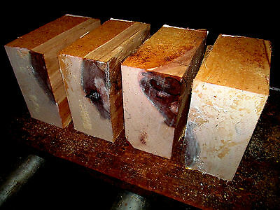 Four Red River Birch Bowl Blanks Lathe Lumber Wood Carve 6 X 6 X 3