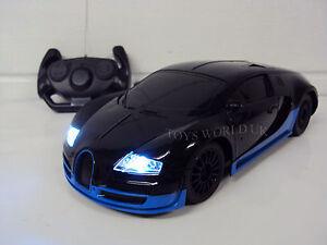 bugatti veyron radio remote control car led lights 1 18 new ebay. Black Bedroom Furniture Sets. Home Design Ideas