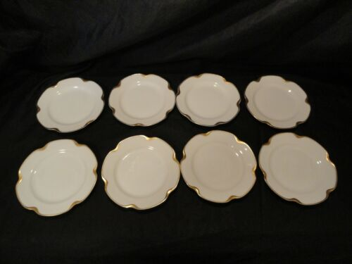 Set of 8 Limoges Haviland Silver Anniversary Luncheon Plates 8 1/4""