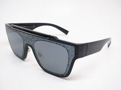 Authentic Dolce & Gabbana DG 6125 501/6G Black w/Crystal Mirror Black (Dolce And Gabbana Mirror Sunglasses)