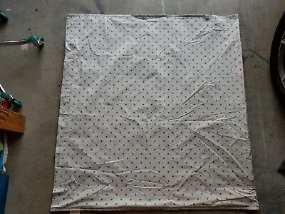"Land of Nod ""Pale Gray w/Charcoal Dots"" Lined Drapery Panel 44"" X 84"" -  1 Panel"