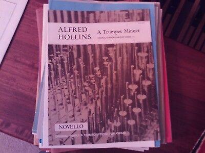 Alfred Hollins: A Trumpet Minuet, organ  (Novello)