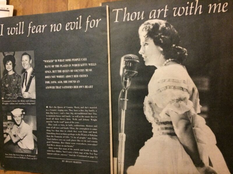 Kitty Wells, Three Page Vintage Clipping