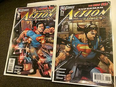 Action Comics 1, 2 New 52 Near Mint Condition or Better