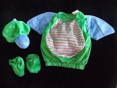 BABY BOYS size 0-6 month DRAGON HALLOWEEN COSTUME plush 6 piece super soft - 0 6 Month Baby Halloween Costumes
