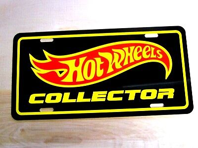 Mattel Hot Wheels collector license plate tag red lines sizzler treasure hunt
