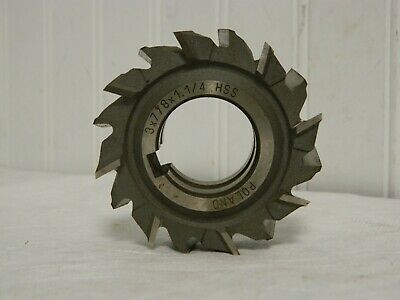 2-1//2 DIA x 7//16 Face x 1 Hole x 16 Teeth HSS Import Staggered Tooth Side Milling Cutter