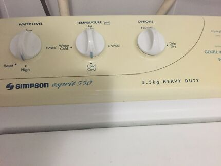 Simpson 5.5kg Top Loader Croydon Burwood Area Preview
