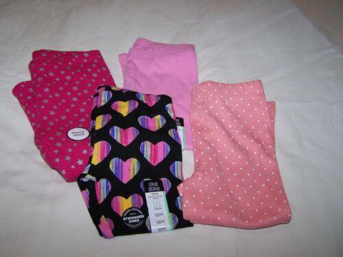 Lot of 4 Leggings for Infant Girl; Okie Dokie, Carter
