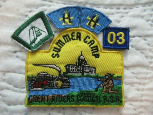 Great Rivers Council BSA Summer Camp Patch with (4) Segments