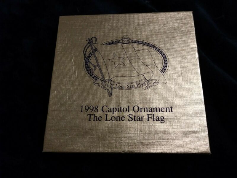 Texas State Capitol Christmas Ornament 1998 The Lone Star Flag Box and Insert