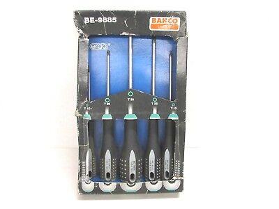 Ergo Screwdriver - NOS! BAHCO BE-9885 ERGO GRIP TORX SCREWDRIVER SET, T10, T15, T20, T25, T30