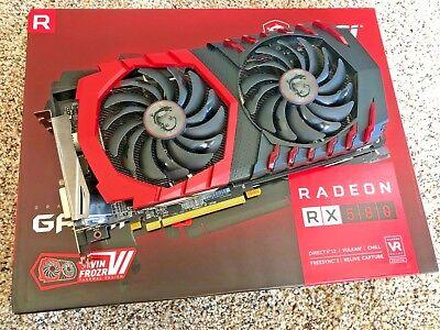 MSI Radeon RX 580 Gaming X 8GB 256-bit GDDR5 Graphics Card