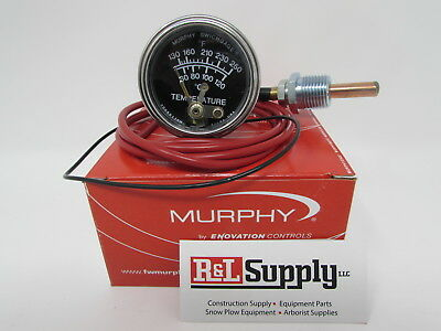 4ft Murphy 20t-250-4-12 250 Degree Temperature Gauge For Equipment Chippers