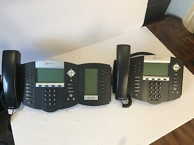 Lot Of 2polycom Soundpoint Ip650 Business Phones