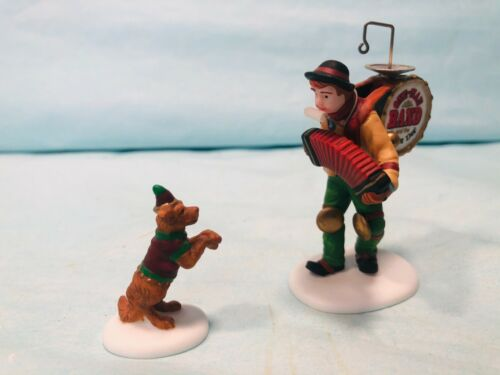 Department 56 Heritage Village  #58891 One-Man Band And The Dancing Dog