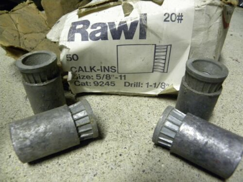 "LEAD concrete ANCHORS fasteners RAWL 5/8"" x 11 bolt (4 pc. lots) $9 USA Shipping"