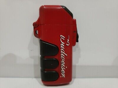 Vintage Retro FLIP TOP BUDWEISER Cover Cigarette Lighter Holder Case 1037.28