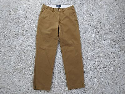 Polo Ralph Lauren Chino Pants Men 33x32 Cotton Brown Beige Tan Casual