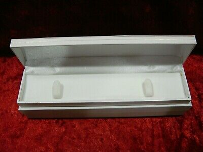 Lot Of 8 White Leatherette Bracelet Display Presentation Boxes W Outer Box New