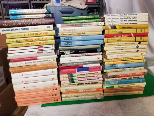 Lot of 66 Soviet Era English Language translations of Russian books Misc.