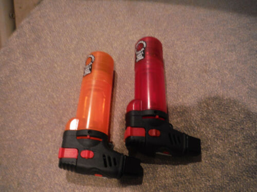 NEW Lot of 2 MonsterSmoking Butane Torches with Light Attachment - RED & ORANGE