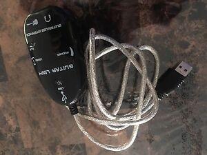 USB guitar link recording device