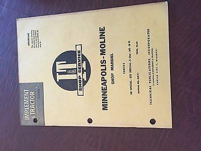 It Minneapolis Moline Avery Shop Tractor Shop Manual Ms G Uts Ub
