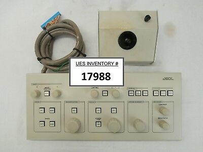 Jeol Ap002179 Microscope Control Panel And Joystick Set Of 2 Jsm-6400f Sem Used