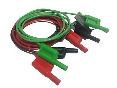 Electrical Test Leads Fluke Megger Kewtech Dilog Stackable Shrouded 4mm Pm29