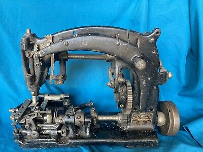 Antique Union Sewing Machine Industrial Us 9900 Double Locked Stitch