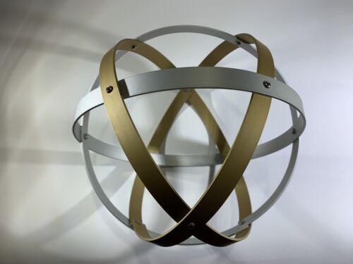 Genesa Crystal diametro 16 cm alluminio satinato oro profilo 1,2 cm