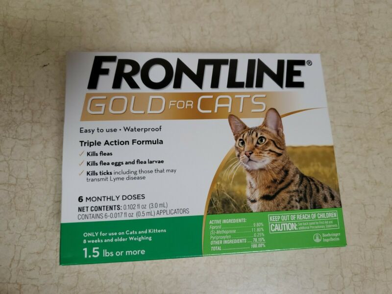 Frontline Gold for Cats, 6 pack (6 month supply)