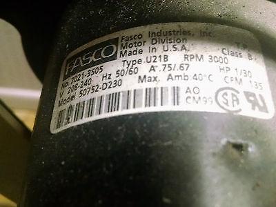 Centrifugal Blower Fasco Exhaust Fan Model 50752-d230