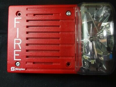 Simplex 4903-9237 Audible Visual Fire Alarm Strobe 24vdc Free Shipping