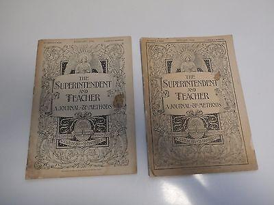 RELIGIOUS,SUNDAY SCHOOL--THE SUPERINTENDENT AND TEACHER,2 COPIES,JAN & FEB.1896 - Sunday School Teacher