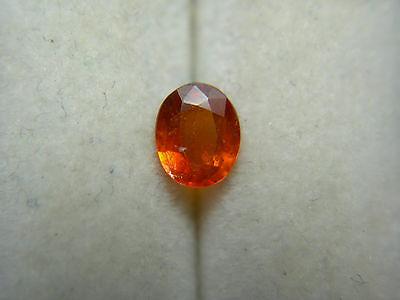 ORANGE KYANITE gemstone Very Rare Gem Tanzania Gemmy untreated Natural oval 0.38