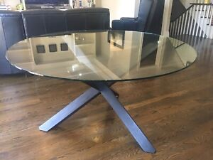 Beautiful Round Glass Dining Table