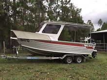 Yellowfin aluminium Quintrex boat Caboolture Caboolture Area Preview