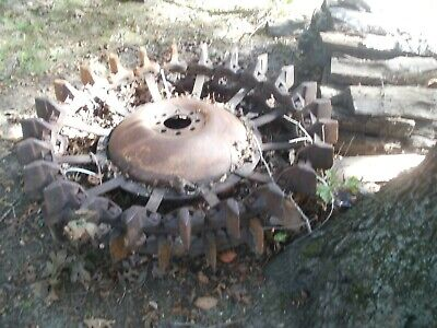 Vintage Antique Steel Tractor Rear Wheels Great Pair