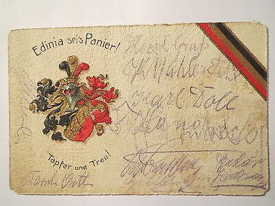 Verbindung Edinia / Wappen / Tapfer und treu / Studentika
