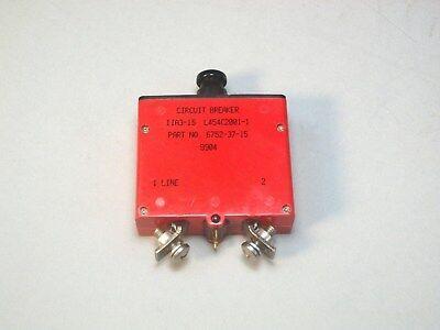 Klixon 6752-37-15 Circuit Breaker 15a Airplane Aviation Aircraft L454c2001-1 New