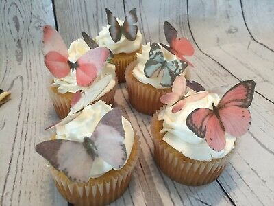Pink and Purple  Mix Edible Butterflies