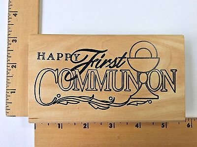 Double D Rubber Stamp - Religious Happy First Communion S5079 - NEW](First Communions)